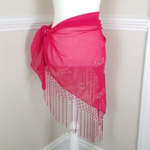 Swimsuit Coverup Fish Sarong Skirt A0502